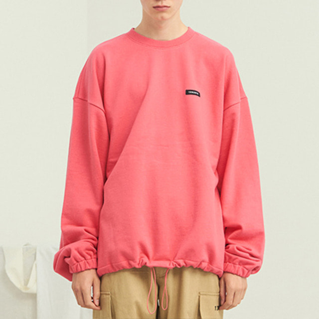 [13MONTH] PEACE WAIST STRING SWEAT SHIRT PINK