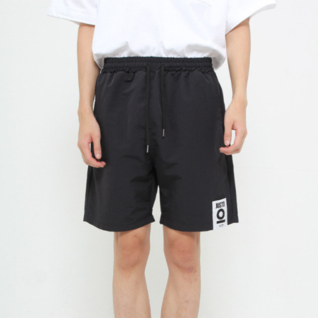 [JUSTO] JUSTO POCKETPRINT HALFPANTS BLACK