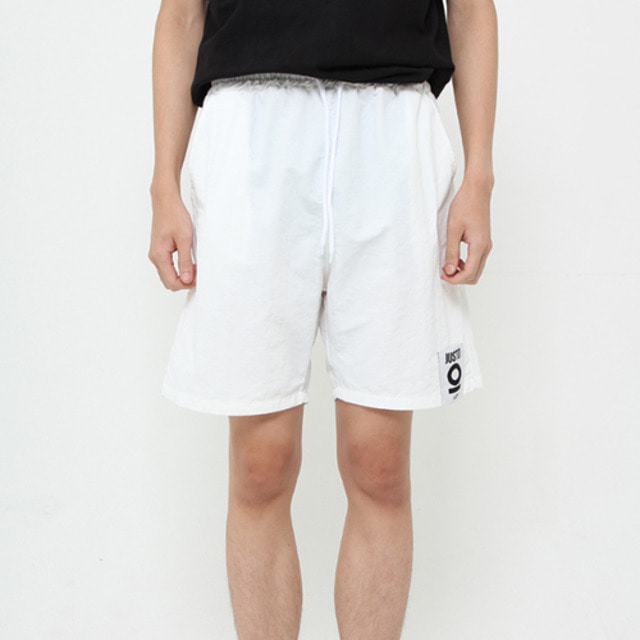 [JUSTO] JUSTO POCKETPRINT HALFPANTS WHITE