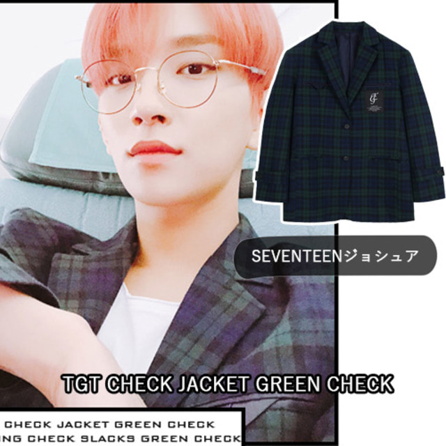 [TARGETTO]TGT CHECK JACKET GREEN CHECK