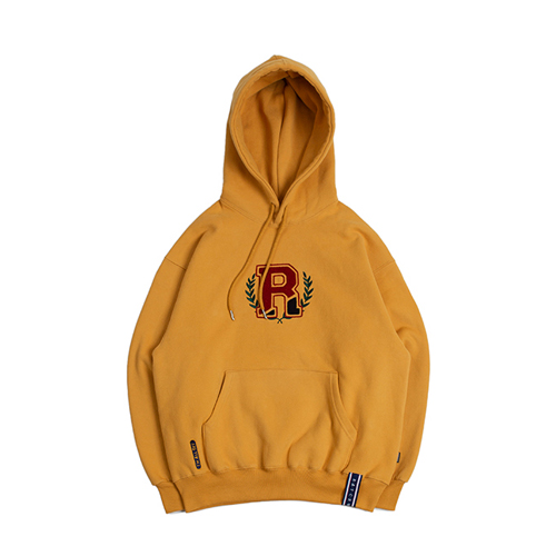 [ROMANTICCROWN] CLASSIC RC HOODIE MUSTARD