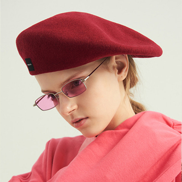 [13MONTH] WOOL WIDE BERET RED