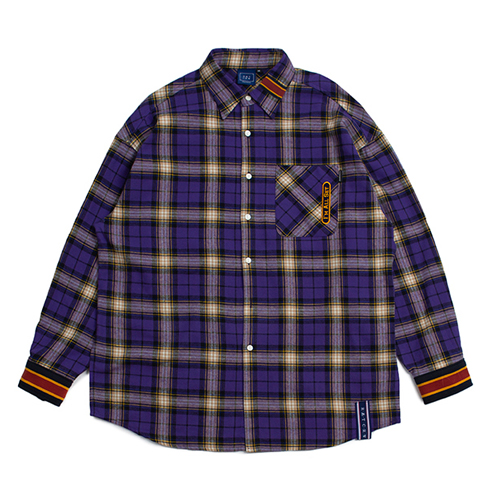 [ROMANTICCROWN] RMTCRW CHECK SHIRT PURPLE