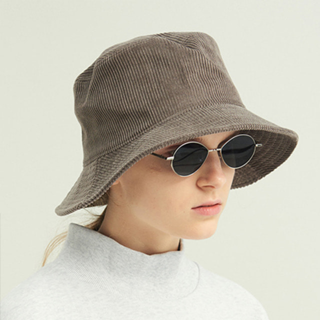 [13MONTH] CORDUROY BUCKET HAT GRAY