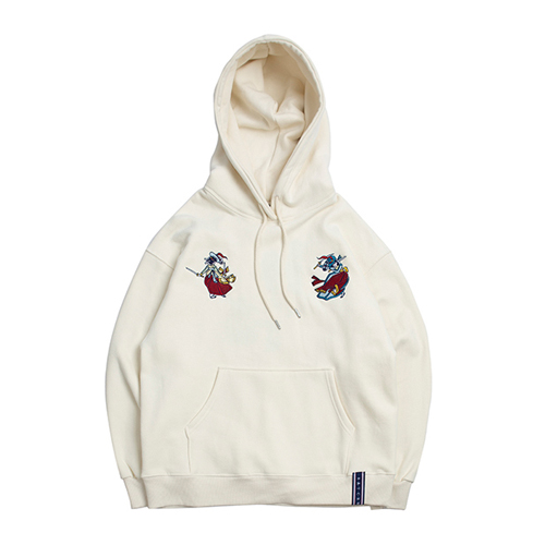 [ROMANTICCROWN] DOUBLE SWORD HOODIE OATMEAL