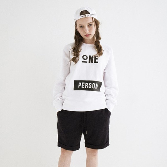 [JUSTO] ONEPERSON SWEATSHIRTS WHITE
