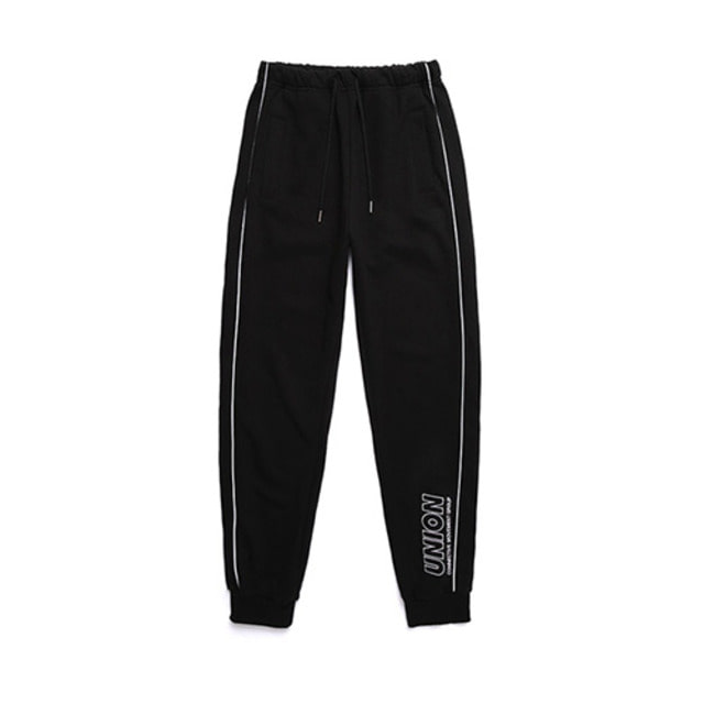 [UNIONOBJET] UNION SIGNATURE TRAINING PANTS BLACK