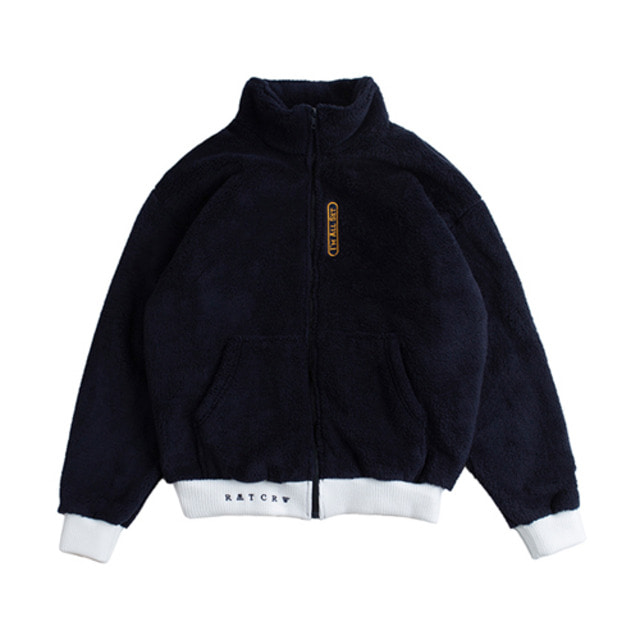 [ROMANTICCROWN] YETI ZIP UP JAKET NAVY