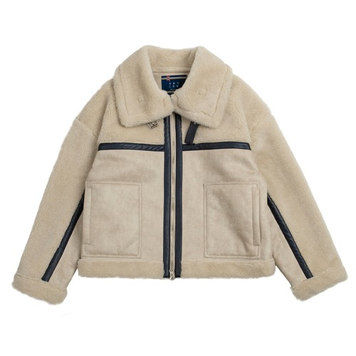 [ROMANTICCROWN] RMTC AVIATOR MOUTON JACKET OATMEAL