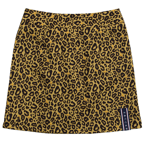 [ROMANTICCROWN WOMAN] LEOPARD SKIRT BROWN