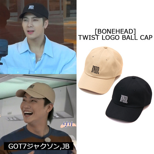 [BONEHEAD]TWIST LOGO BALL CAP