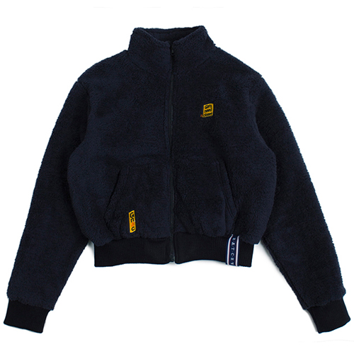 [ROMANTICCROWN WOMAN] YETI SHORT JACKET NAVY