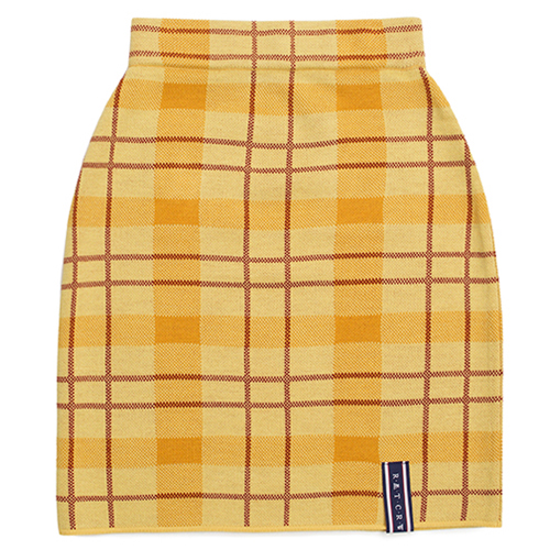 [ROMANTICCROWN WOMAN] TARTAN CHECK KNIT SKIRT BUTTER