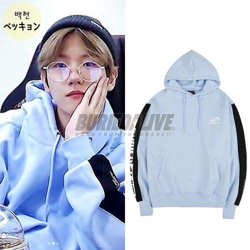 [11月21日 予約配送] [EXO ITEM] BA M.COLOR HOOD SKY BLUE