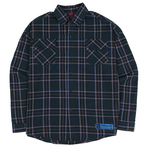 [BURIEDALIVE] BA SPRINT CHECK SHIRTS BLUE