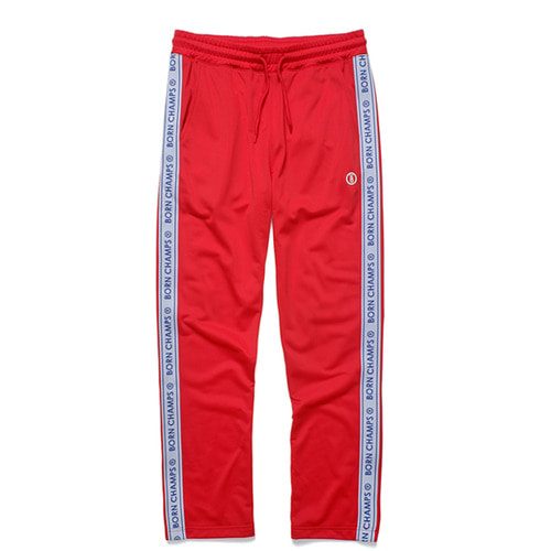 [BORNCHAMPS] BC LOGO TRACK PANT RED CERCMTP01RE