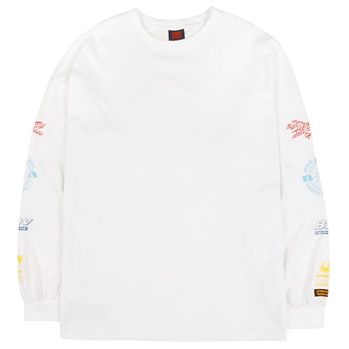 [BURIEDALIVE] BA ARM LOGO LONG SLEEVE WHITE