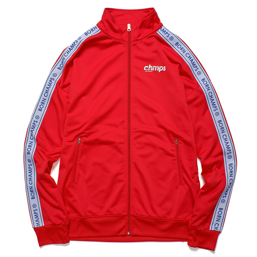 [BORNCHAMPS] BC LOGO TRACK TOP RED CERCMJK01RE