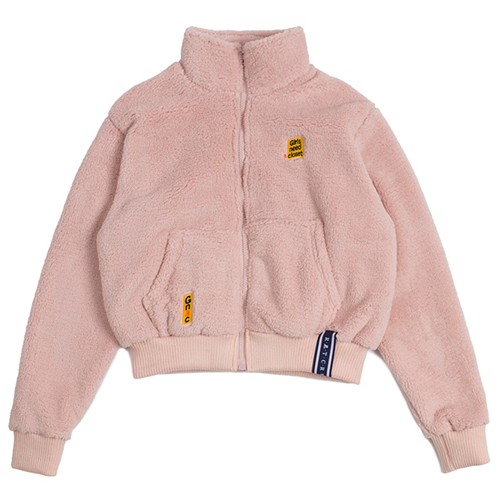 [ROMANTICCROWN WOMAN] YETI SHORT JACKET PINK