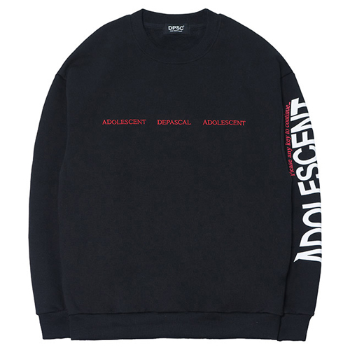 [DEPASCAL] ADOLESCENT SWEAT SHIRT BLACK