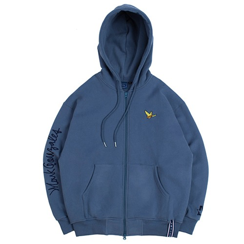[ROMANTICCROWN] [R.C X M.G]FLAG GONZ HOOD ZIP UP BLUE