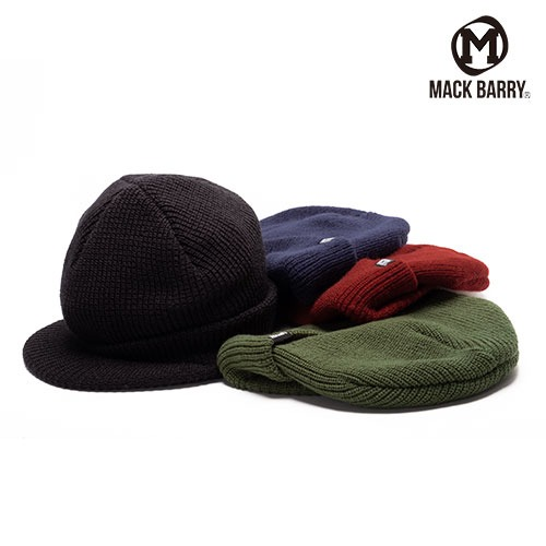 [MACK BARRY] MCBRY VISOR CAP BEANIE 4COLOR