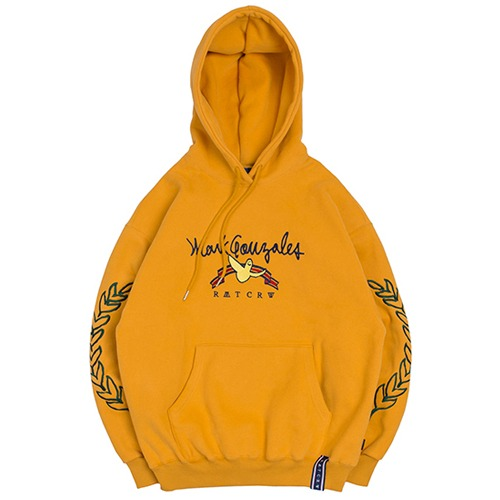 [ROMANTICCROWN] [R.C X M.G]FLAG GONZ HOODIE YELLOW