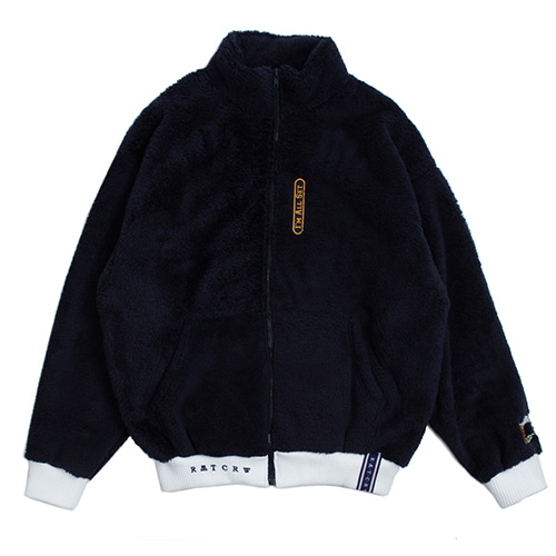 [ROMANTICCROWN] YETI ZIP UP JAKET NAVY_RED VELVETスルギ