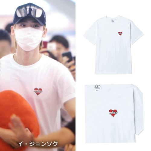 [BEYOND CLOSET]NOMANTIC LOGO BASIC 1/2 T-SHIRTS WHITE_イジョンソク