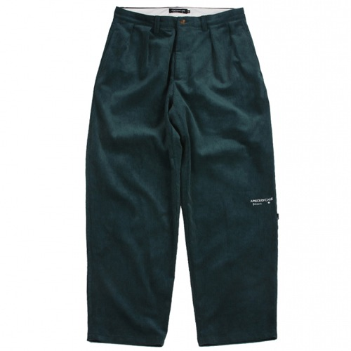 [APOC] CLASSIC FIT CORDUROY PANTS GREEN