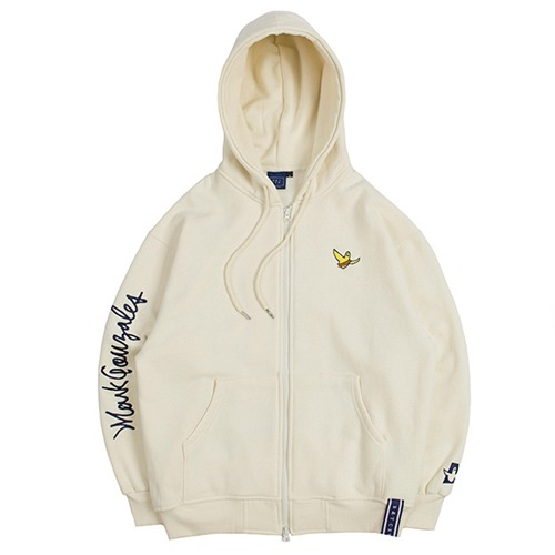 [ROMANTICCROWN] [R.C X M.G]FLAG GONZ HOOD ZIP UP OATMEAL