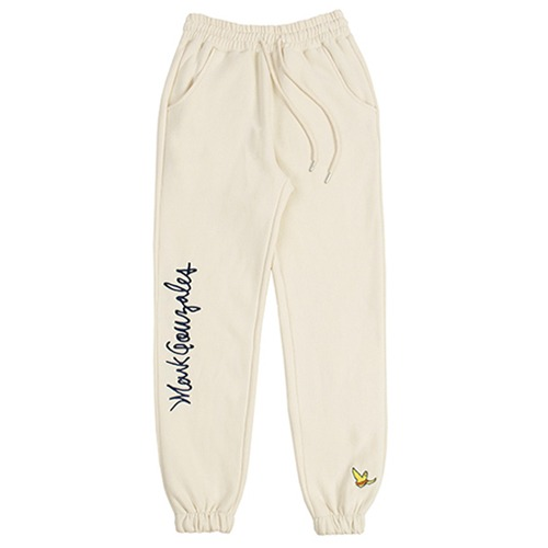 [ROMANTIC CROWN][R.C X M.G]FLAG GONZ JOGGER PANTS OATMEAL