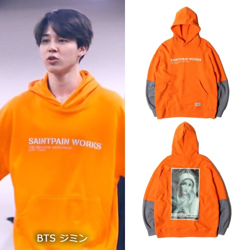 【1月25日発送】[SAINTPAIN]SP IDEAL HOOD LS(ORANGE)
