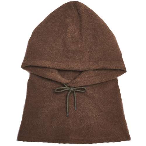 [13MONTH] HOOD NECK WARMER BROWN