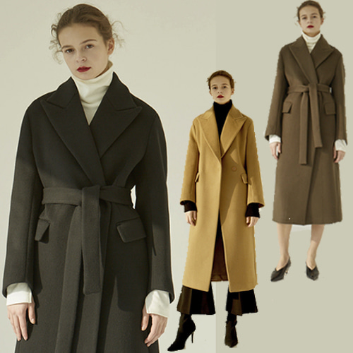 [MOHAN] 18FW PEAKED COLLAR LONG COAT 3COLOR