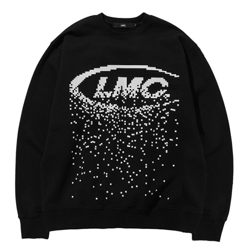 [LMC] LMC RED LABEL PIXEL LOGO SWEATSHIRT BLACK