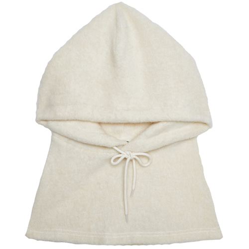 [13MONTH] HOOD NECK WARMER IVORY