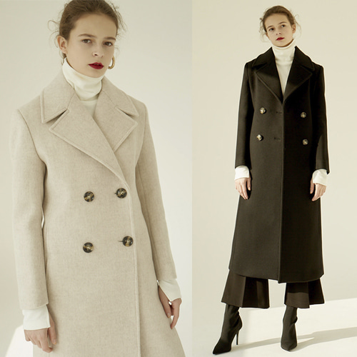 [MOHAN] 18FW DOUBLE LONG COAT 2COLOR