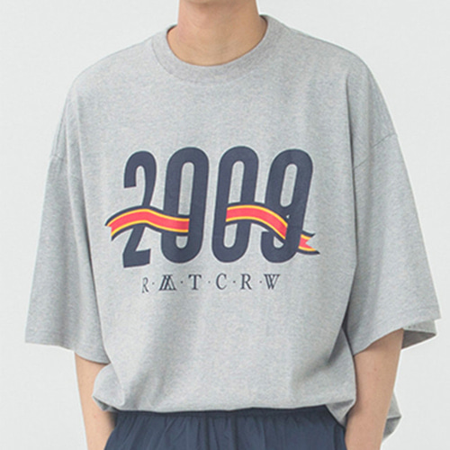[ROMANTICCROWN] 2009 FLAG T-SHIRT GREY