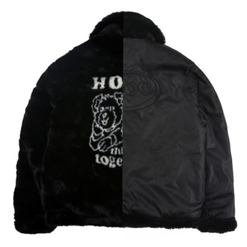 [APOC] HTT FUR JACKET BLACK