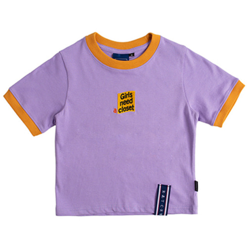 [ROMANTICCROWN] GNAC CROP T-SHIRT PURPLE