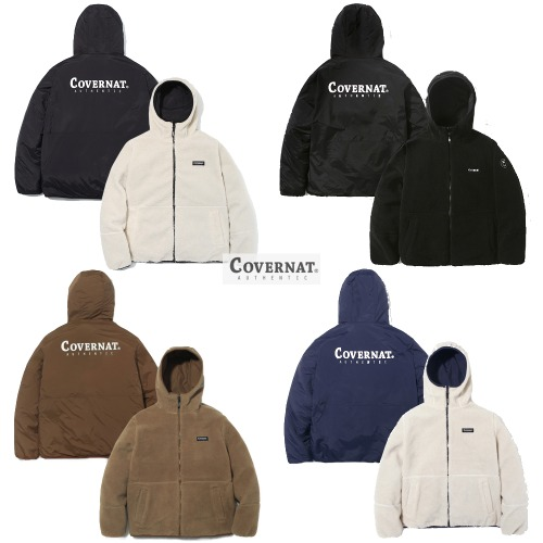 [COVERNAT]REVERSIBLE FLEECE WARM UP JACKET 4COLOR