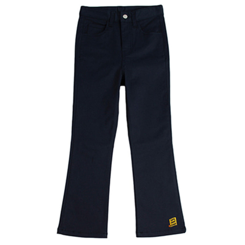[ROMANTICCROWN] AMBROID BOOTS CUT SLACKS NAVY
