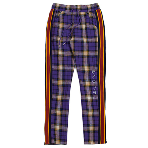 [ROMANTIC CROWN] RMTCRW CHECK PANTS PURPLE