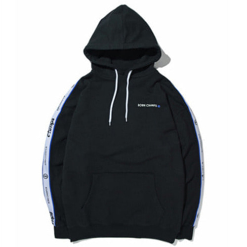 [BORN CHAMPS]BC NEW TAPE LOGO HOODY BLACK CERAMHD02BK