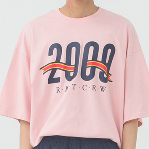[ROMANTICCROWN] 2009 FLAG T-SHIRT PINK