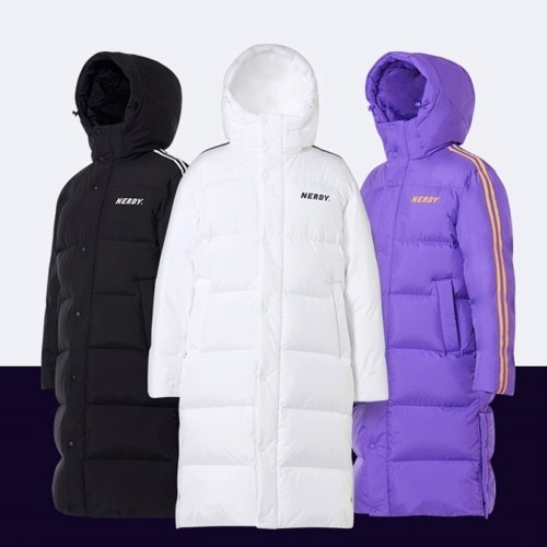 [NERDY]NY Track Long Down Jacket 3COLOR