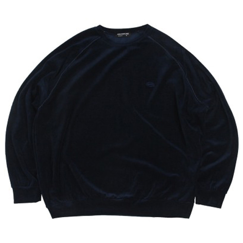 [APOC] VELOUR CREWNECK NAVY