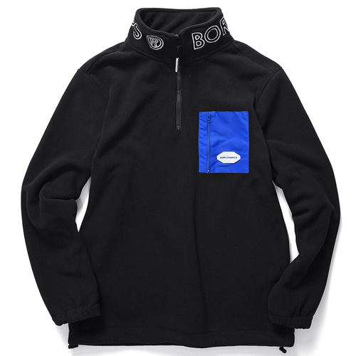 [BORNCHAMPS] CHMPS POLAR FLEECE BLACK CERDMMT03BK
