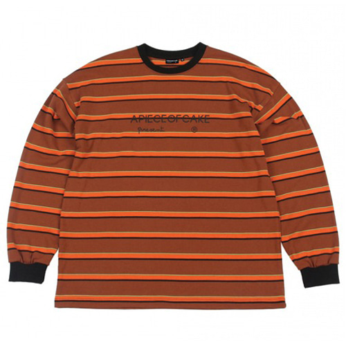 [APOC] LOGO STRIPE LONGSLEEVE ORANGE